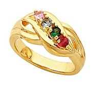 Four Birthstones Mother s Ring