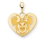 Disney Minnie Mouse Heart Lobster Clasp Large Charm