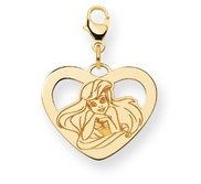 Disney Ariel  The Little Mermaid Lobster Clasp Heart Charm