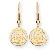 Disney Winnie the Pooh Round Shepherd Hooks Earrings