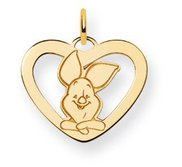Disney Piglet Medium Heart Charm