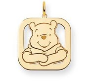 Disney Winnie the Pooh Medium Square Charm