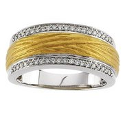 TWO TONE BRIDAL ANNIVERSARY BAND