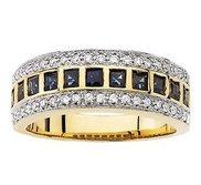14KY RHODIUM BRIDAL GENUINE SAPPHIRE DIAMOND ANNIV
