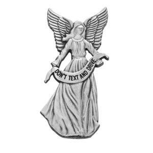 Guardian Angel   Don t Text And Drive   Religious Metal Visor Clip