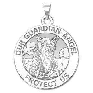 Our Guardian Angel   Round Religious Medal   EXCLUSIVE