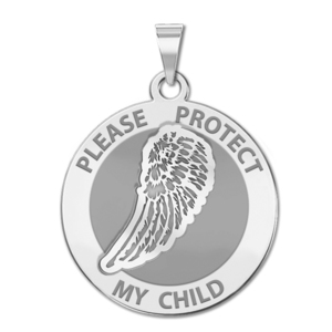 Guardian Angel  Protect My Child  Single Wing Medal   EXCLUSIVE