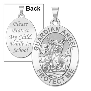 Guardian Angel  School Protect  Double Sided Medal   EXCLUSIVE