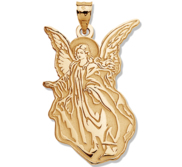 angel gold engraved tone d anthony guardian michael products jewelry pendant
