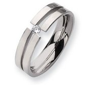 Titanium 6mm 0 10ct  Diamond Wedding Band