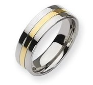Titanium 14k Gold Plated 7mm Polished Wedding Band