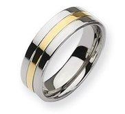 Titanium 14k Gold Plated 7mm Polished Wedding Band