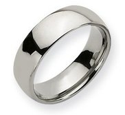 Sterling Silver 7mm Comfort Fit Wedding Band