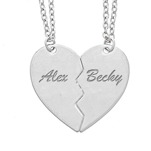 Personalized split or broken heart pendants or charms pg80322 aloadofball Choice Image