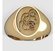 Mother with Two Daughters Oval Shaped  Mother s Ring