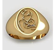 Mother and Daughter Oval Shaped  Mother s Ring