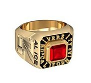 Boy s Square Emerald Class Ring