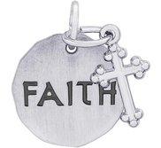 FAITH TAG W CROSS ENGRAVABLE
