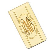 Gold Plated Engravable Money Clip