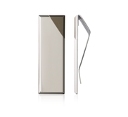 Engravable Equinox Iconic Faceted Money Clip With Cutaway Corner