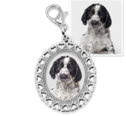 Photo Engraved Small Oval Photo Charm
