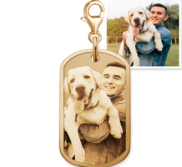 Petite Dog Tag Charm For Bracelet
