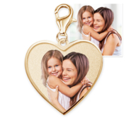 Petite Heart with Border Photo Charm For Bracelet