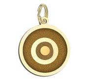 Round Evil Eye Engraved Charm