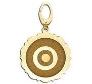 Scalloped Round Evil Eye Engraved Charm