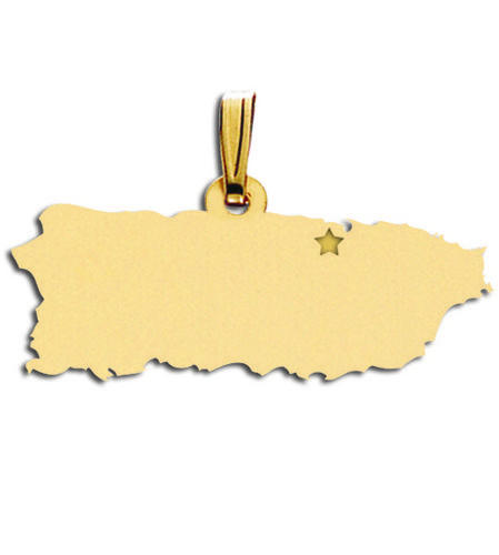 Puerto Rico Map Charm Charms for Bracelets and Necklaces