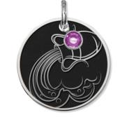 Aquarius Symbol Round Charm or Pendant