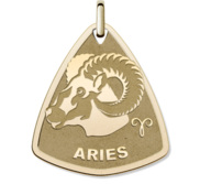 Aries Symbol Shield Pendant or Charm