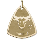 Taurus Symbol Shield Pendant or Charm