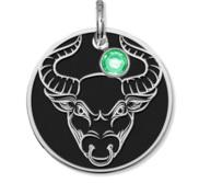 Taurus Symbol Round Charm or Pendant