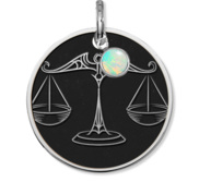 Libra Symbol Round Charm or Pendant
