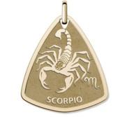 Scorpio Symbol Shield Pendant or Charm