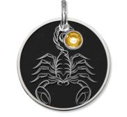 Scorpio Symbol Round Charm or Pendant