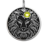 Leo Symbol Round Charm or Pendant