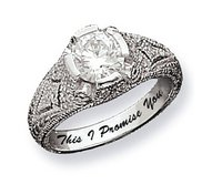 Sterling Silver Round Antique Cubic Zirconia Promise Ring