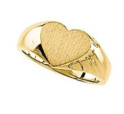Solid Gold Heart Shaped Promise Ring