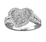 Sterling Silver Heart Cubic Zirconia Promise Ring