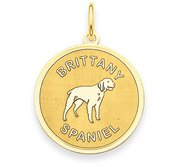 Brittany Spaniel Disc Charm or Pendant
