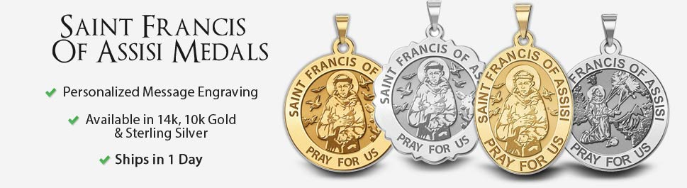 Saint francis of assisi medals pictures on gold francis of assisi aloadofball Choice Image