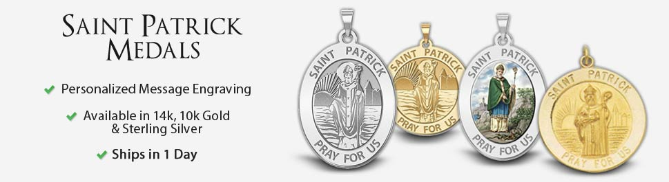 Saint patrick medals pictures on gold saint patrick aloadofball Gallery