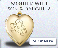 Mother with Son and Daughter Lockets