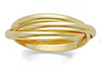 14K Yellow Gold Fancy Wedding Bands