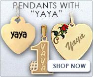 Pendants with  Yaya