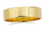 14K Yellow Gold Flat Wedding Bands