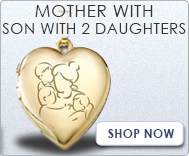 Mother with Son and Two Daughters Lockets