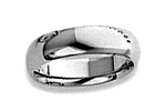 14K White Gold Comfort Fit Wedding Bands